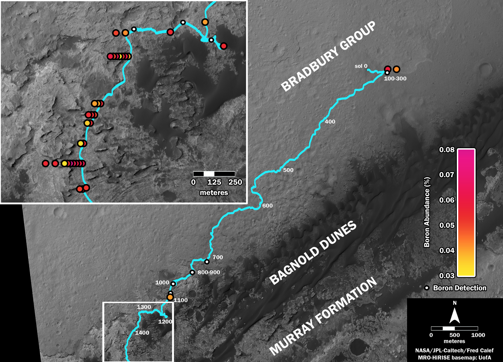 Where's Boron? Mars Rover Detects It – NASA's Mars ...