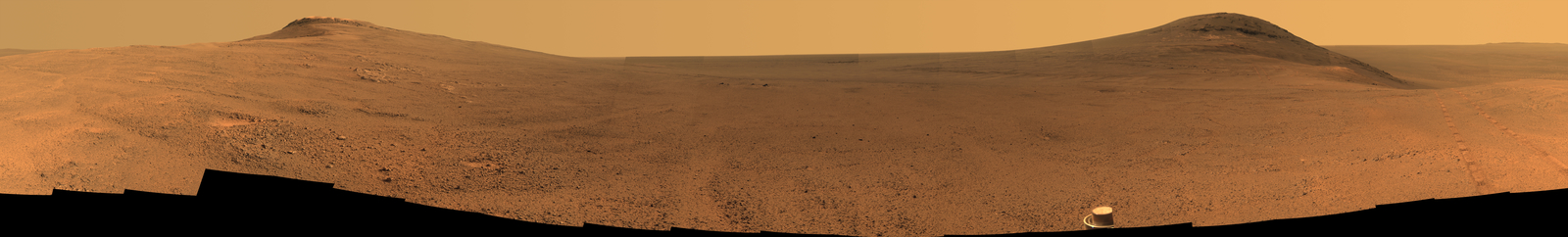 Panorama Above  'Perseverance Valley' on Mars