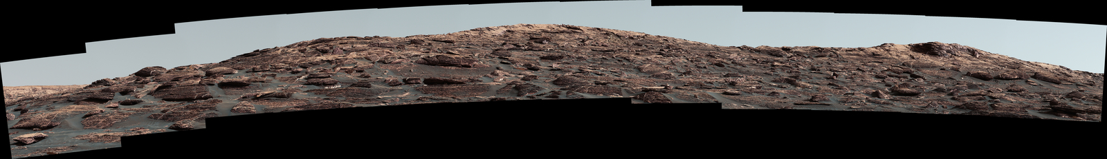 "The Mastcam on NASA's Curiosity Mars rover captured this view of ""Vera Rubin Ridge"" about two weeks before the rover starting to ascend this steep ridge on lower Mount Sharp."