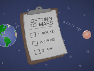 Mars in a Minute: How Do You Get to Mars?