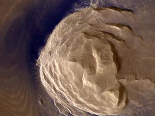 Dark Materials on Olympus Mons