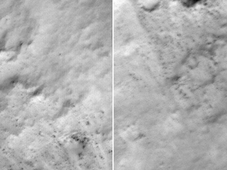 see the image 'Slight Blurring in Newer Image from Mars Orbiter'