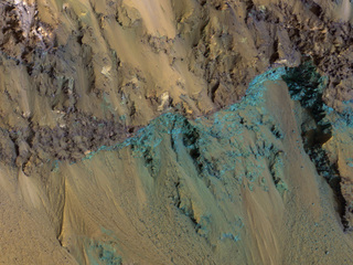 Bedrock Exposed in the Rim of Hale Crater