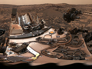 NASA's Curiosity rover surveyed its surroundings on August 9, producing a 360-degree panorama of its current location on Mars' Vera Rubin Ridge.