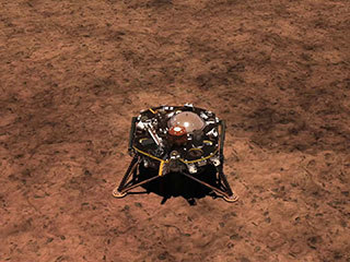 Animation of InSight deploying it's solar panels.
