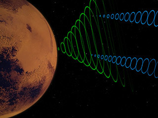 This animation depicts the MarCO CubeSats relaying data from NASA's InSight lander as it enters the Martian atmosphere.
