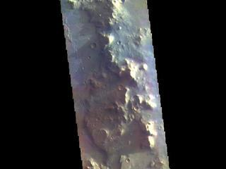 This image from NASAs Mars Odyssey shows part of the floor of Herschel Crater. Sand dunes are visible at the bottom of the image.