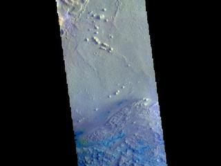 Pasteur Crater - False Color