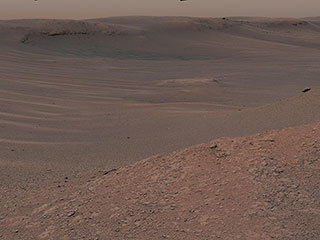 The Mast Camera (Mastcam) on NASA's Curiosity Mars rover captured this mosaic as it explored the clay-bearing unit.
