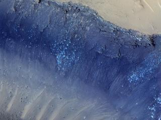 Landslides in Cerberus Fossae