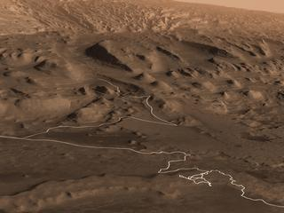 Curiosity's Proposed Path up Mount Sharp
