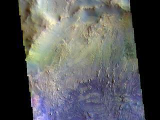 Arabia Terra Crater - False Color
