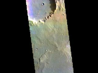 Herschel Crater - False Color