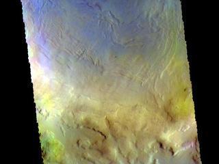 Renaudot Crater - False Color