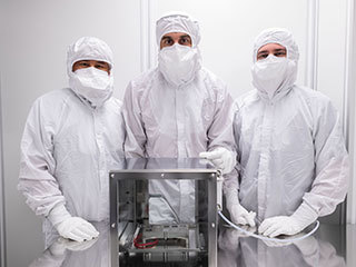 SHERLOC Calibration Target in the Clean Room