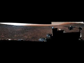 Panorama de 360 ° de Curiosity del 'Rock Hall'
