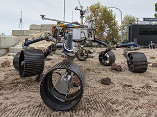 Mars 2020 Makes Tracks for the Red Planet in the Mars Yard