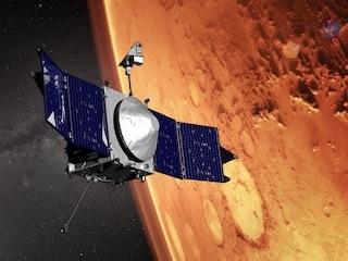MAVEN Artist's Concept Orbiting Mars