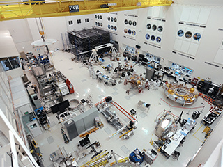 High Bay 1 clean room within the Spacecraft Assembly Facility at JPL