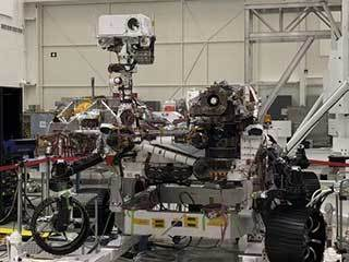 Mars 2020 Rover on Stand