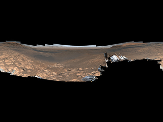 Along with an almost 1.8-billion-pixel panorama that doesn't feature the rover, NASA's Curiosity captured a 650-million-pixel panorama that features the rover itself