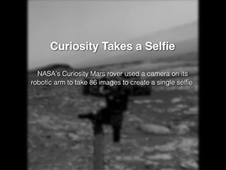 This video, taken by one of the Navigation Cameras, or Navcams, on NASA's Curiosity Mars rover, shows the rover's robotic arm as it rotates to take a selfie. A camera at the end of the arm captured 86 individual images that were later stitched into a panorama.