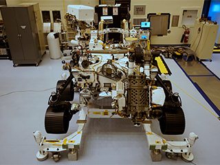Mars Perseverance rover at Kennedy Space Center in Florida