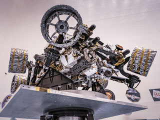 Perseverance Rover on Spin Table at Kennedy Space Center