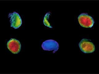 Odyssey's Six Views of Phobos