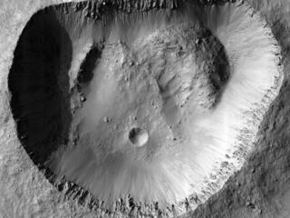 This image acquired on April 26, 2020 by NASAs Mars Reconnaissance Orbiter, shows the crisp detail of a crater rim.