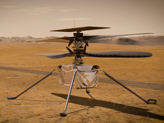 illustration of NASA's Ingenuity Mars Helicopter