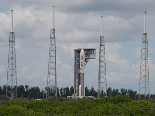 Mars 2020 Perseverance Stands Tall at Launch Pad