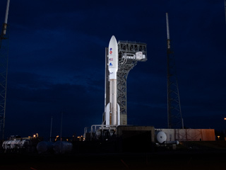 Atlas V Illuminated Before Perseverance Launch