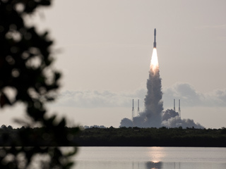 The rocket with NASA's Mars 2020 Perseverance rover onboard launches from KSC
