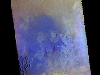 Kaiser Crater - False Color