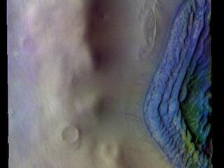 Terra Cimmeria Crater - False Color