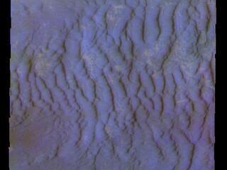 Dunes Near the South Pole - False Color