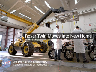 Twin of NASA's Perseverance Mars Rover Moves Into New Home