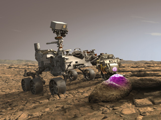 Perseverance's PIXL at Work on Mars (Illustration)