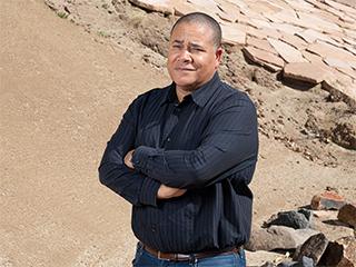 Bill Allen in JPL's Mars Yard
