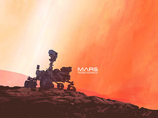 Perseverance Rover on Mars (Illustration)