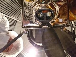 Bottom of Ingenuity Mars Helicopter