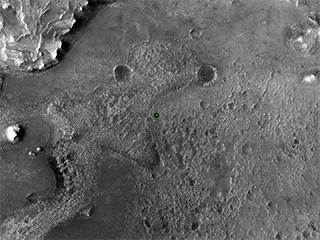 Perseverance's Landing Spot in Jezero Crater