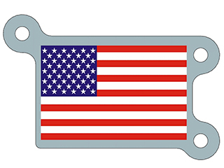 United States Flag Plate Artwork