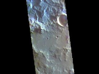 Terra Cimmeria Craters - False Color