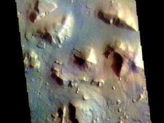 Cydonia Colles - False Color