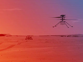 Ingenuity Helicopter on Mars (Illustration)