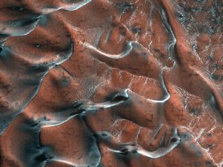 Frosty Sand Dunes of Mars