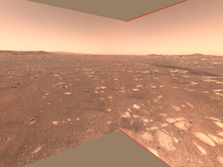 Rover Point of View of Ingenuity Flight Zone