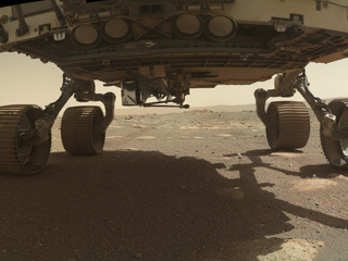 WATSON Spies Ingenuity on Perseverance Rover's Belly